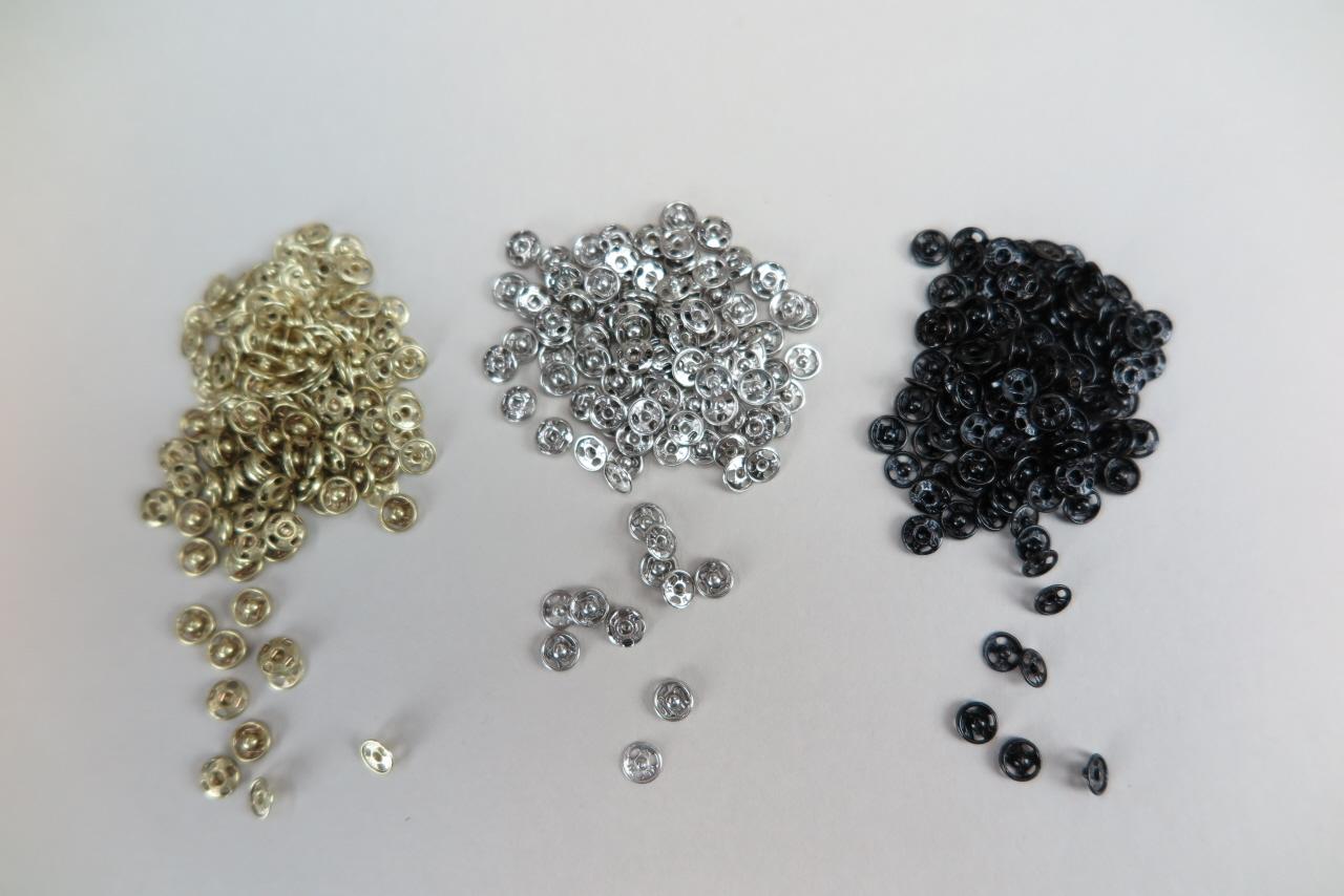 Snaps, No  4/0, 5 mm diameter, per 50 pcs